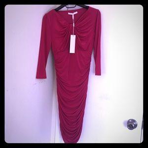 $395 NWT Halston Heritage Raspberry Dress Size 4